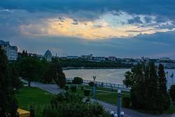 Вечір на Тернопільському ставі