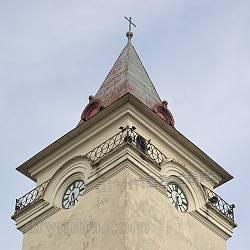 Костел св.Николая в Рогатине. Верхушка башни