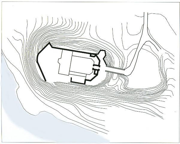 План-схема Корецького замку