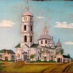 Церква Різдва Пресвятої Богородиці у Білопілля. Малюнок 1901 року.