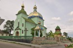 Рогатин. Церква св.Юрія з дзвіницею