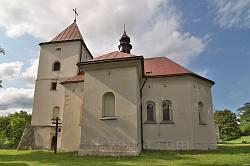 Костел у Дунаєві. Південна сторона