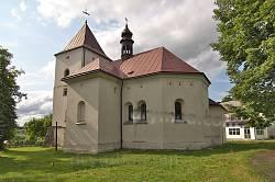 Костел св.Станіслава у селі Дунаєві. Вид на вівтарну частину.