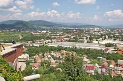 """Вид на Мукачево із замку """"Паланок"""""""