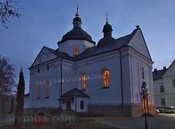 Крехівський монастир. Церква св.Миколая увечері