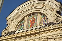 Фронтон церкви св.Серця Христового у Жовкві