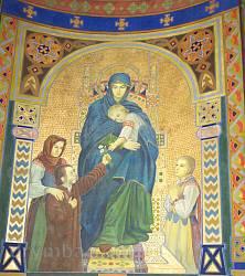 """Церква св.Серця Христового у Жовкві. Розпис """"Богородиця з дітьми"""""""