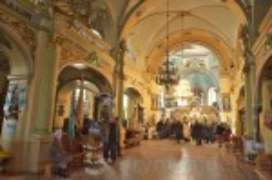 Интерьер церкви Пресвятой Троицы в Бережанах