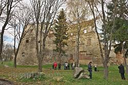 Бережанский замок. Вид с юго-востока