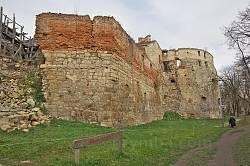 Південний мур Бережанського замку