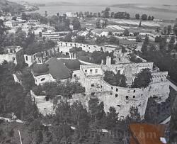 Бережанський замок на початку XX ст. Аерофотозйомка