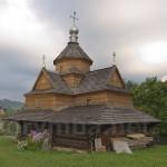 Деревяна церква Різдва Богородиці у Ворохті. Вівтарна частина