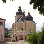 Рогатин. Церква Різдва Богородиці. Вид з головної площі