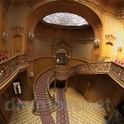 Дом Ученых во Львове. Парадный зал и лестница