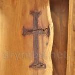 Церква св.Іллі у Чинадієво. Хрест у буковому дереві