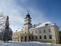 Жовківська ратуша взимку