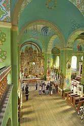 Інтер'єр церкви Пресвятої Трійці у Потеличі