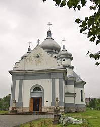 Потелич. Церква Пресвятої Трійці. Фасад