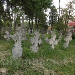 Рогатин. Цвинтар біля Святодухівської церкви з похованнями жертв I Світової Війни.