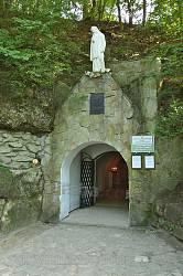 Вхід до Страдецької печери та підземного храму