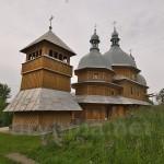 Рогатин. Миколаївська церква з дзвіницею