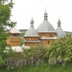 Рогатин. Церква св.Миколая з дзвіницею