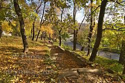 Микулинецький парк. Сходи до річки
