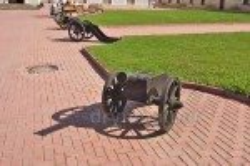 Пушки во дворе Збаражского замка