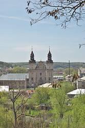 Костел св.Антонія. Вид з замкової гори
