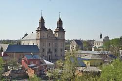 Центр Збаража. Вид з Замкової гори
