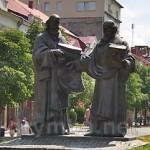 Мукачево. Центральний проспект та пам'ятник св.Кирилу та Мефодію