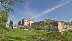 Збаражский замок. Вид из оборонительного рва