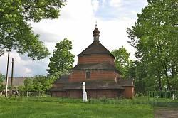 Буськ. Дерев'яна церква св.Параскеви
