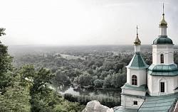 Святогірська лавра. Вид на долину Сіверського Донця