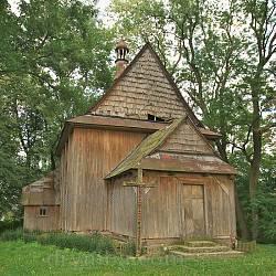 Тадані. Деревяний костел Благовіщенні Богородиці
