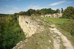 Східна стіна Теребовлянського замку