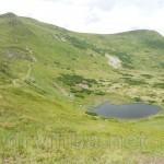 Озеро Несамовите біля підніжжя Туркула