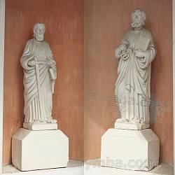 Фігури св.Петра і Павла на костелі у Теребовлі