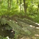 Декоративный мостик в парке Лопухіних