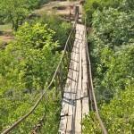 Подвесной мостик в Корсунь-Шевченковском парке