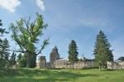 Хрестопроісхожденський монастир у Підкамені. Загальний вигляд із півдня