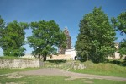 Монастир у Підкамені. Загальний вигляд із заходу