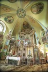 Интерьер часовни-ротонды св.Параскевы в Подкамне