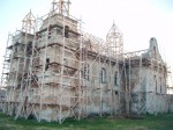 Костел у Тартакові. Відбудова у 2012 році
