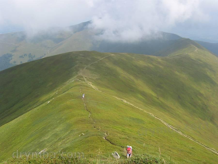 Боржава. Підйом на гору Стій з боку Великого Верху