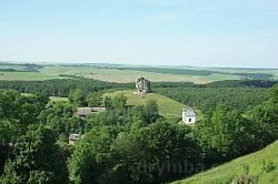 Краєвид із монастирської гори у Підкамені