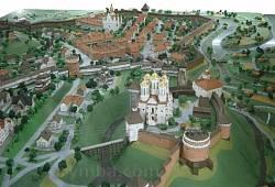 Макет-реконструкція міста (фото з краєзнавчого музею фортеці)