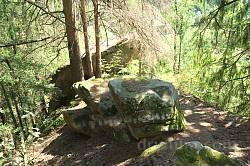 Скеля Довбуша у селі Околена