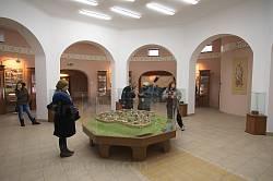 Зала першого поверху музею у Пересопниці