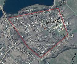 Межиріч. Міські вали на супутниковому знімку